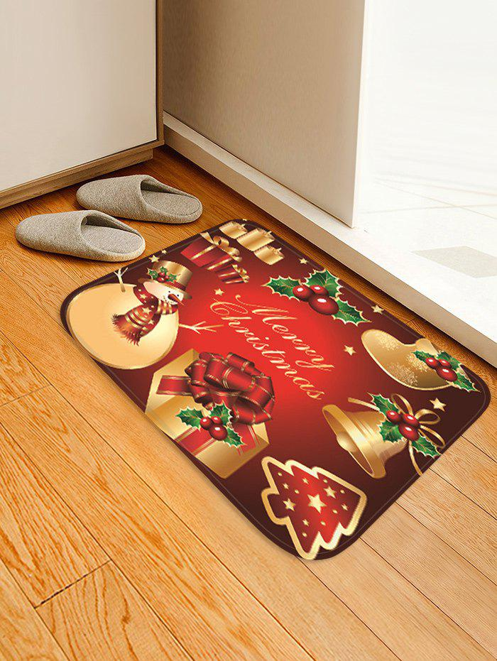 Latest Christmas Props Pattern Anti-skid Water Absorption Area Rug
