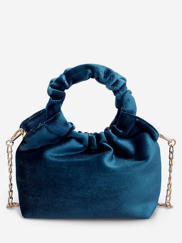 Affordable Round Shape Handle Handbag with Chain Strap