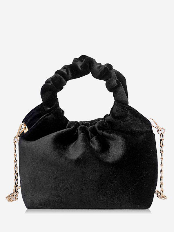 Outfit Round Shape Handle Handbag with Chain Strap