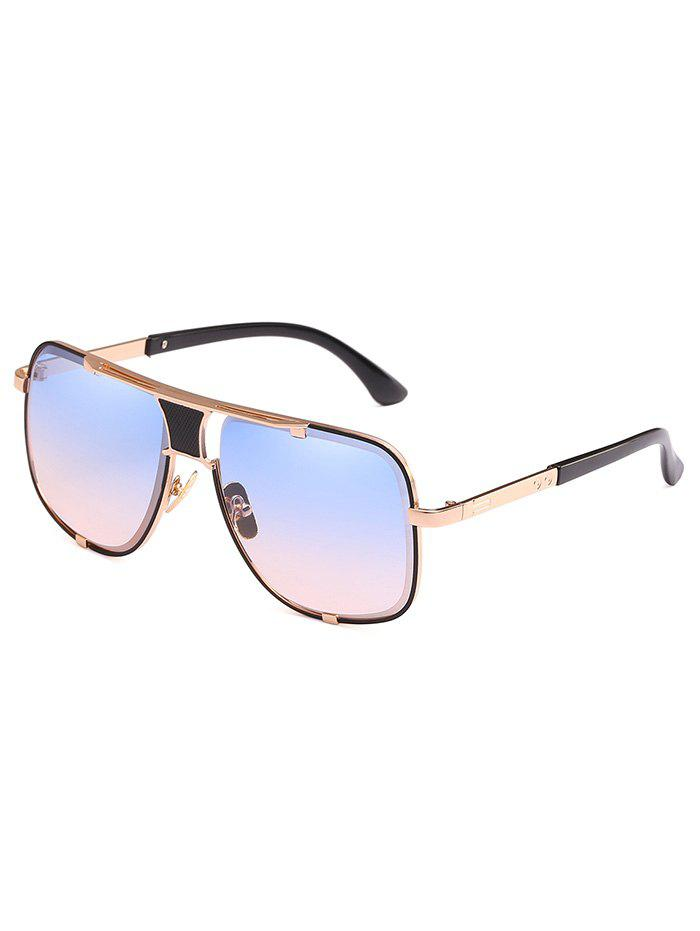 Chic Statement Metal Square Frame Sunglasses