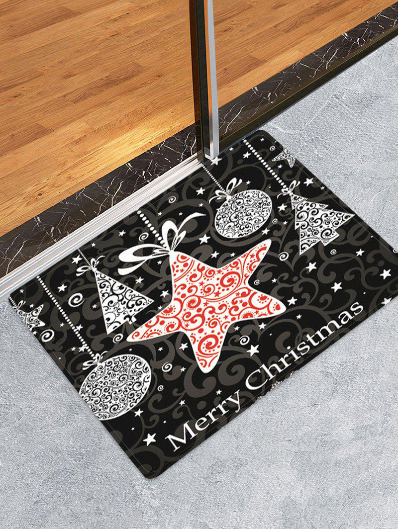 Outfit Merry Christmas Pattern Water Absorption Anti-skid Area Rug