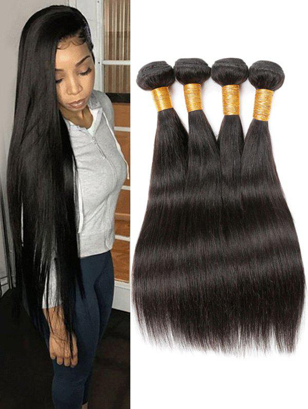 Cheap 4Pcs Peruvian Virgin Long Straight Human Hair Weaves