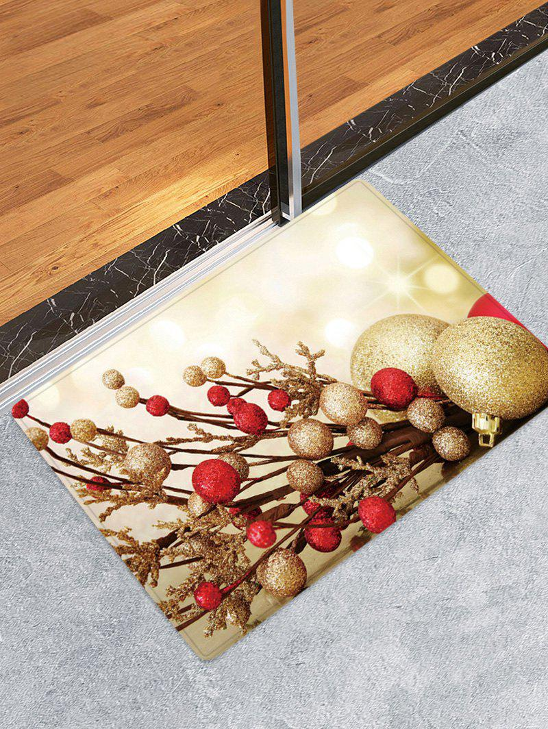 Buy Christmas Balls Branch Pattern Water Absorption Area Rug