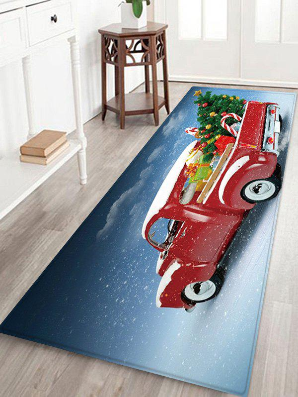 Outfits Christmas Tree Car Pattern Water Absorption Floor Rug