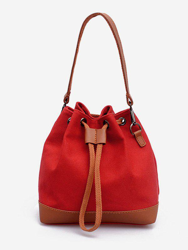 Outfits Bucket Color Block Canvas Tote Bag