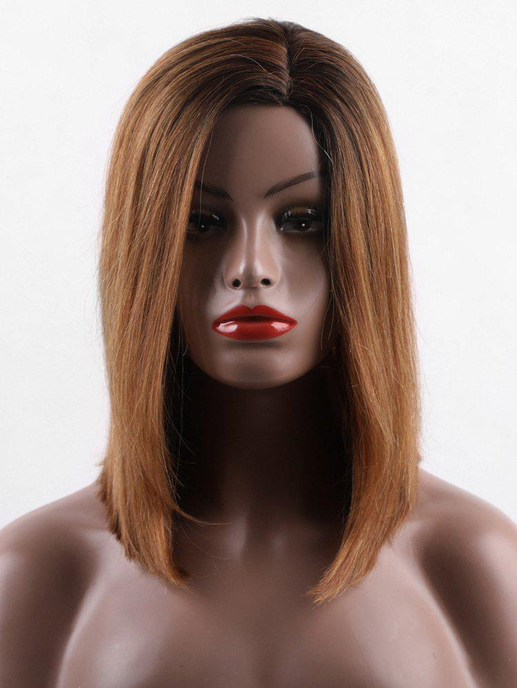 Discount Short Colormix Straight Capless Human Hair Wig