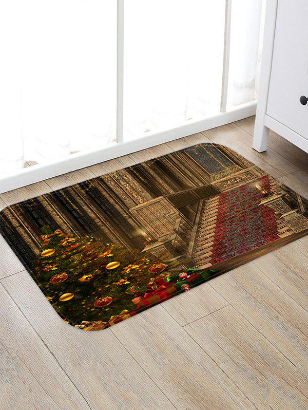 Online Christmas Tree Palace Pattern Anti-skid Water Absorption Area Rug
