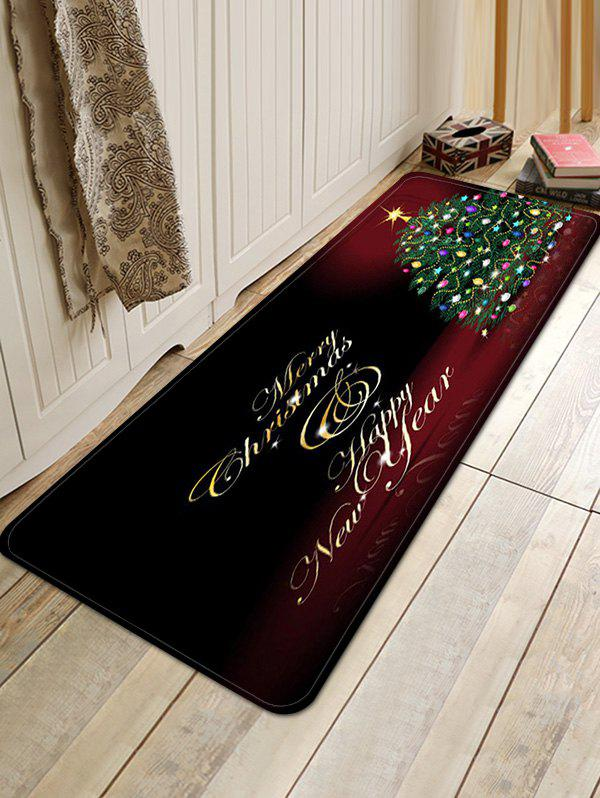 Discount Christmas Tree Greeting Pattern Anti-skid Water Absorption Area Rug