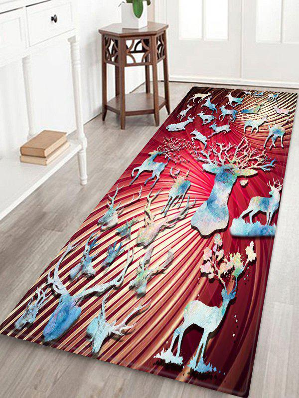 Unique Christmas Deer Printed Floor Mat