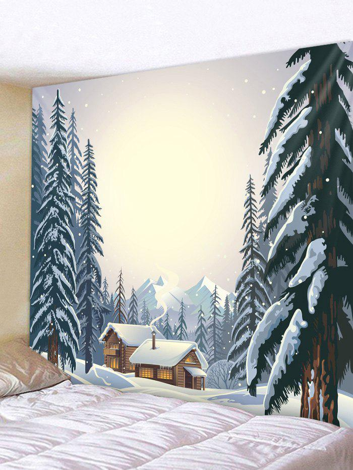 Discount Forest House Print Tapestry Wall Hanging Decor