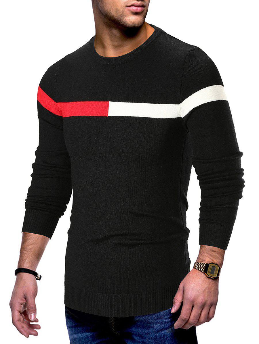 Shop Panel Long Sleeve Pullover Sweater
