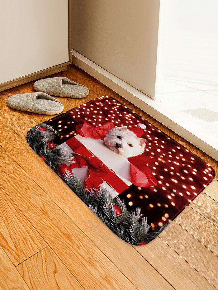 Online Christmas Gift Dog Pattern Anti-skid Water Absorption Area Rug