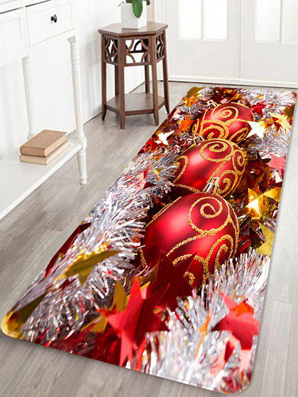 Latest Christmas Balls Stars Pattern Anti-skid Water Absorption Area Rug