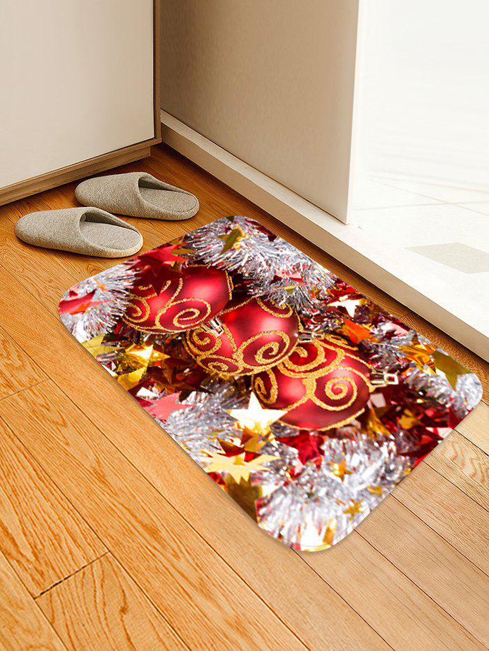 Outfits Christmas Balls Stars Pattern Anti-skid Water Absorption Area Rug