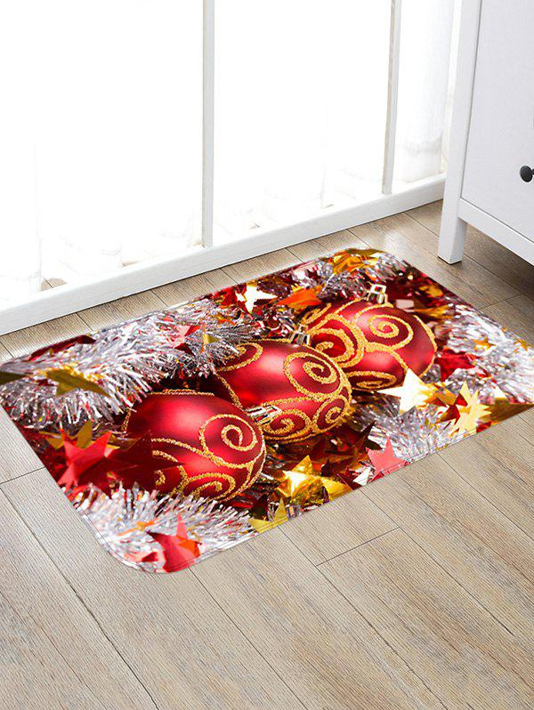 Shop Christmas Balls Stars Pattern Anti-skid Water Absorption Area Rug