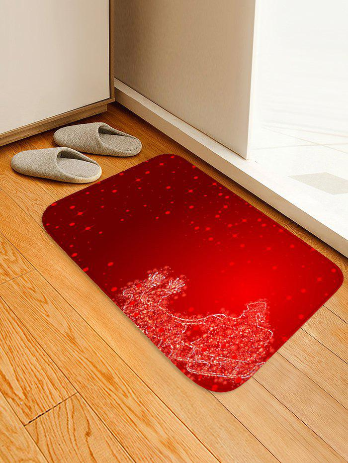 Chic Christmas Sleigh Deer Printed Floor Mat