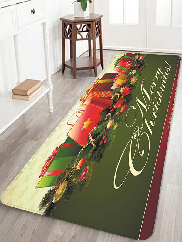 Store Christmas Gifts Pattern Anti-skid Water Absorption Area Rug