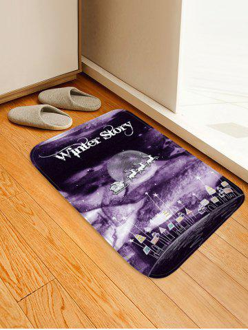 Christmas Star Deer Printed Floor Mat - DULL PURPLE - W20 X L31.5 INCH