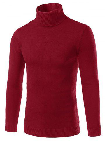 Solid Turtle Neck Long Sleeve Sweater