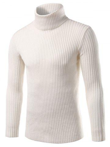 Turtle Neck Long Sleeve Solid Sweater