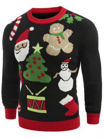 Christmas Theme Printed Crew Neck Sweater