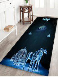 Christmas Night Elk Printed Floor Mat -