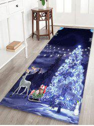 Christmas Tree Deer Printed Floor Mat -