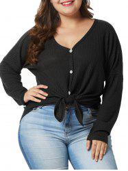 Plus Size Drop Shoulder High Low T-shirt -