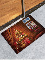 Christmas Tree House Pattern Anti-skid Water Absorption Area Rug -