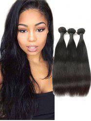 3Pcs Real Human Hair Straight Hair Weaves -