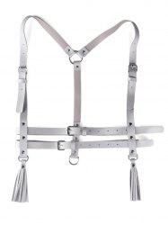 Metal Buckle Faux Leather Punk Harness Belt -