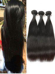 3Pcs Peruvian Virgin Real Human Hair Straight Hair Weaves -