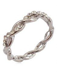 Rhinestone Infinity Loop Alloy Ring -