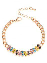 Artificial Crystal Decoration Chain Bracelet -