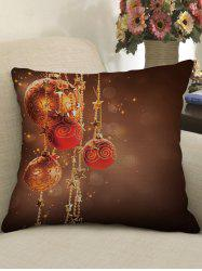 Christmas Ball Stars Print Decorative Sofa Pillowcase -