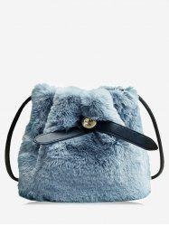 Faux Fur Solid Bucket Bag -