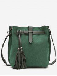 Bucket Tassel String Design Crossbody Bag -