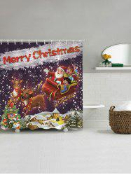 Christmas Deer with Jingle Bells Shower Curtain -