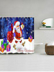 Christmas Bow Package Bathroom Shower Curtain -