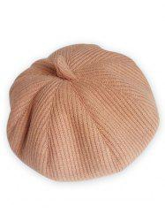 Vintage Solid Color Knitted Beret -