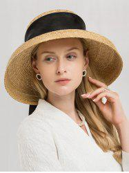 Vintage Ribbon Band Straw Sun Hat -
