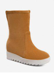 Plus Size Increased Internal Mid Calf Boots -