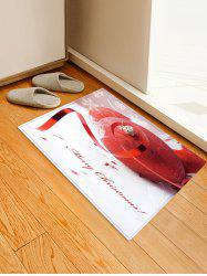 Merry Christmas Ball Pattern Anti-skid Water Absorption Area Rug -