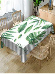 Tropical Leaves Print Fabric Waterproof Tablecloth -