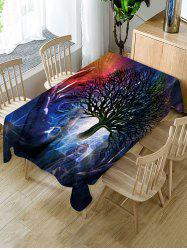 Galaxy Tree Print Fabric Waterproof Tablecloth -