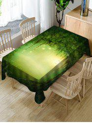 Forest Hole Print Fabric Waterproof Tablecloth -