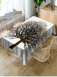 Tree Print Fabric Waterproof Tablecloth -