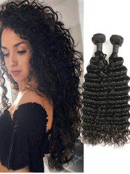 2Pcs Peruvian Human Hair Deep Wave Hair Weaves -