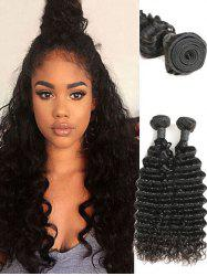 2Pcs Indian Real Human Hair Deep Waves Hair Weaves -