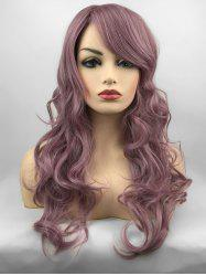 Inclined Bang Long Wavy Party Capless Synthetic Wig -